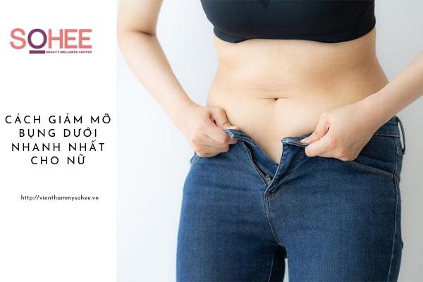Top các cách giảm mỡ bụng dưới nhanh nhất cho nữ siêu hiệu quả
