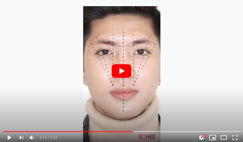 Mãn nhãn với quy trình vẽ Motion Graphic lông mày cho nam giới